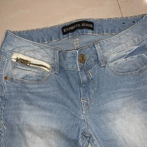 EXPRESS pinstriped jeans size 4